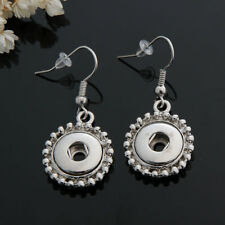 NEW 12MM silver color Drill Earrings Fit For Noosa Charm Snap Button N62