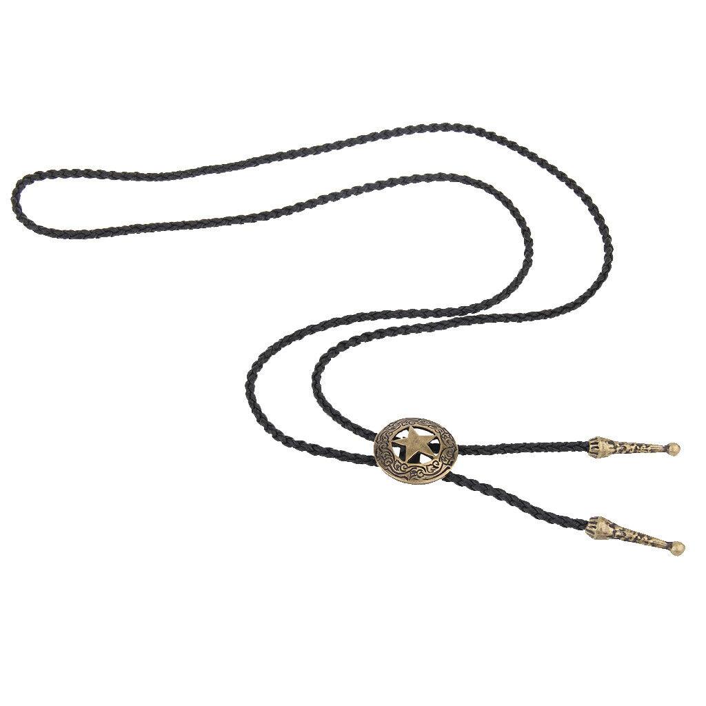Bolo Tie Rodeo Krawatte PU Lederband Anhänger Halskette für Männer Frauen