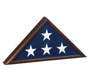 USMilitaryStuff 90C American Veteran Burial Flag Case - Cherry Finish