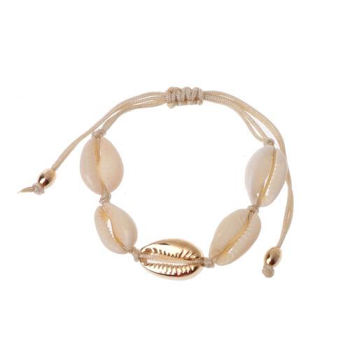 Bohemian Natural Cowrie Shell Braided Bracelets Women Handmade Fashion Jewelry