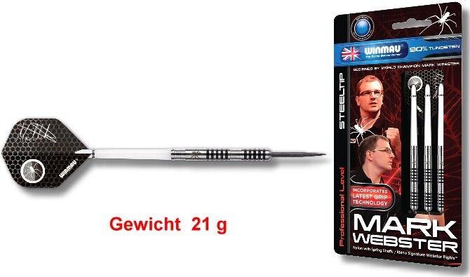 Steel Dart Pfeile Winmau Mark Webster 21 g- 3er Set