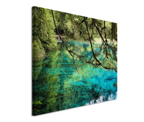 Leinwandbild 120x80cm auf Keilrahmen Wasser,türkis,Natur,frei,Baum,idyllisch