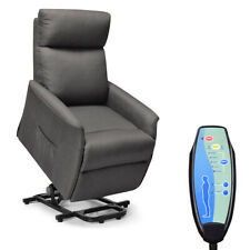 Electric Power Lift Massage Chair Recliner Sofa Fabric Padded Seat w/Remote Home