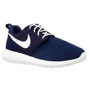 a102de867ca4 NEW 599728-416 Nike Roshe One (GS) Shoe!! MIDNIGHT NAVY WHITE MARINE ...