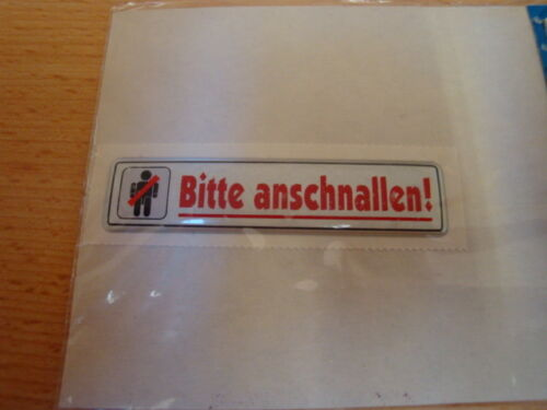 pegatina//sticker-para taxi//servicio de transporte Por favor anschallen!