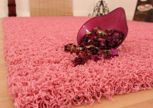 Shaggy rose d/'un épais Langflor tapis pink