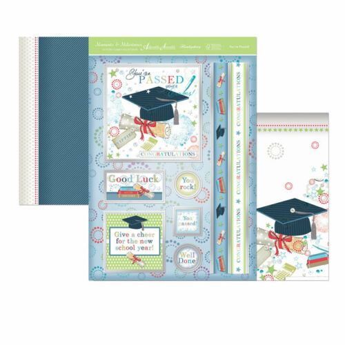 2 x A4 Card HUNKYDORY Milestones Special Toppers YOU/'VE PASSED Foiled Toppers