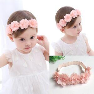Baby Girls kID Soft Elastic Flower Headband Hairband Cute Hair Band ... b29907c679a