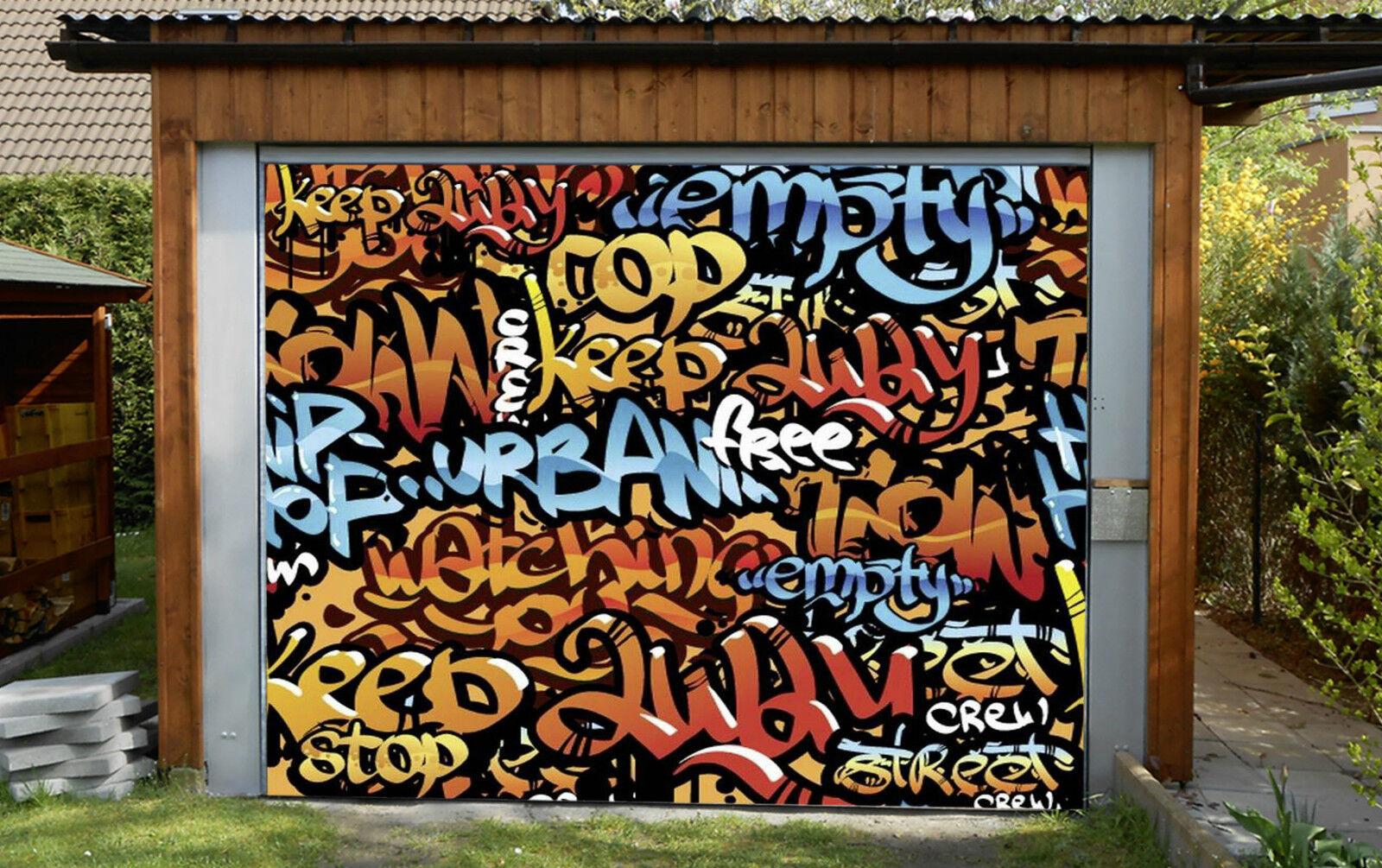 3D Graffiti Wort 7 Garage Door Murals Wall Print Decal Wall Deco AJ WALLPAPER DE