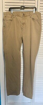 Old Navy Straight Men's Khaki Tan 100% Cotton Twill Jeans ...