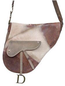 b9afc077f88c Christian Dior big Gaucho bag limited edit vintage pony shoulder ...