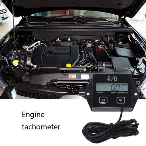 Gauge Chainsaw Spark Inductive Hour Meter Engine Digital Car Tachometer