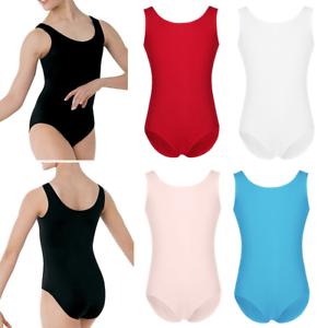 Girls Leotard Ballet Dance Dress Kid Stretchy Gymnastics Dancewear Costume 3-12Y