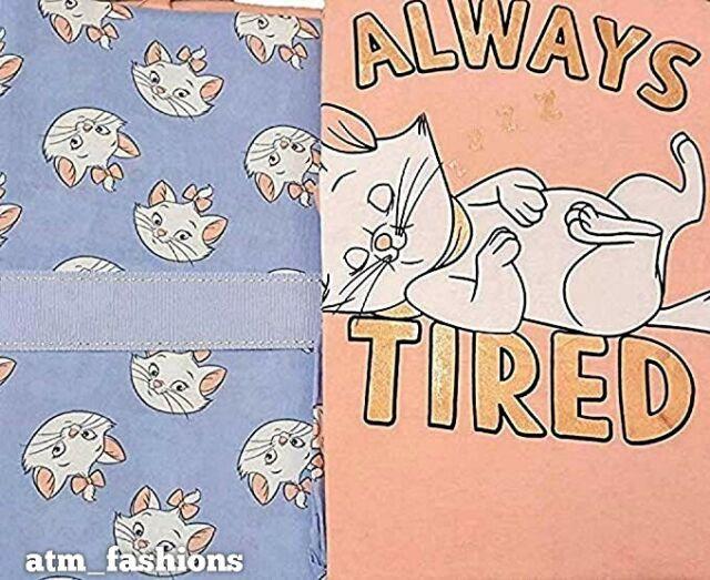 Ladies Primark Aristocat Marie Nightwear Long Tshirt