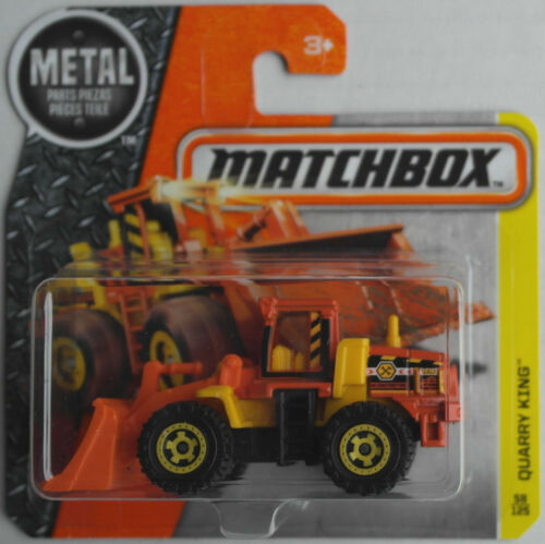Matchbox Quarry King Radlader orange/gelb Neu/OVP Baustelle Construction MBX