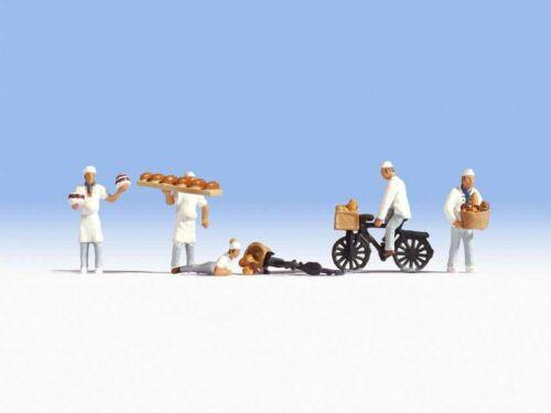 Encore 15053 Boulanger 5 personnages accessoires + NOUVEAU dans neuf dans sa boîte