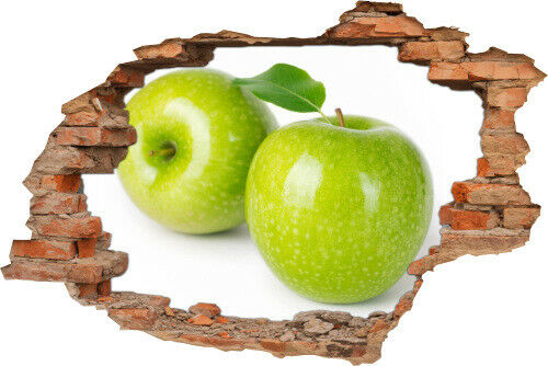 3d mur-Image Mur-Tatouage de mur autocollant pomme fruits Apple vert cuisine deco