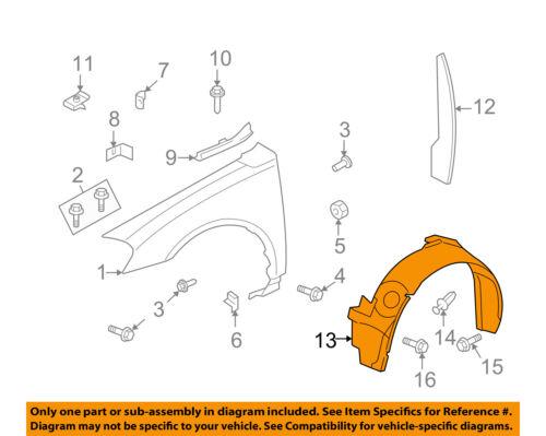 Chevrolet GM OEM-Front Fender Liner Inner Splash Shield Guard Left 10333703