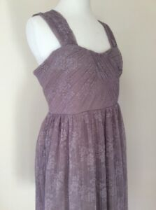 Top-Shop-UK-14-Lace-Evening-Dress-new-Eur-42-Mink-formal-prom-Party-BNWT