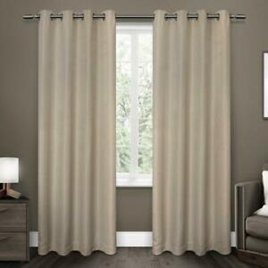 Exclusive-Home-Tende-a-Pannello-Melrose-Tessuto-Oscurante-set-di-2-color-Lino