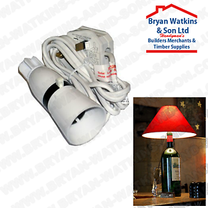 Bouteille-vin-Lampe-Adaptateur-Lighting-Kit-Avec-Cable-Flex-et-Plug-13-A-pre-cable