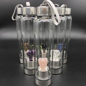 Natural-Quartz-Crystal-angel-Water-Bottle-reiki-Healing-Elixir-hand-carved-1pcs
