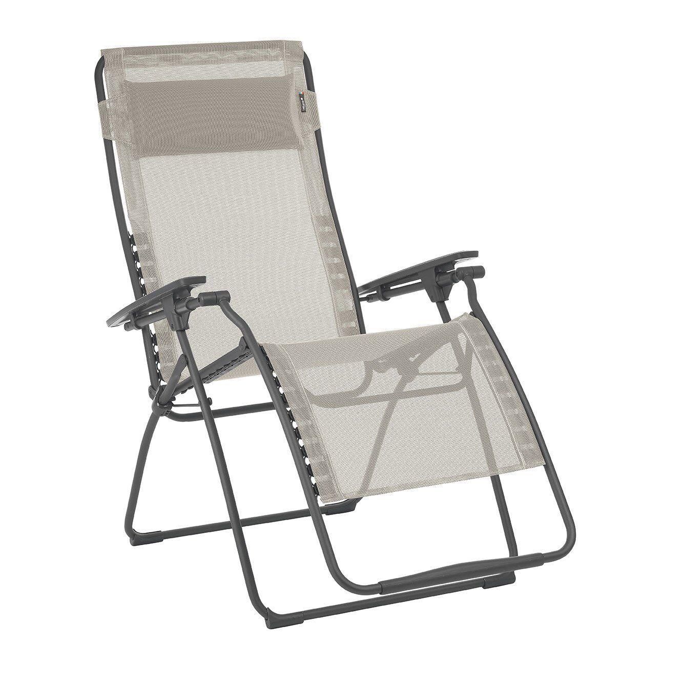 Lafuma Futura XL Zero Zero Zero Gravity Outdoor Steel Framed Lawn Recliner Chair Seigle 71d615
