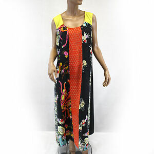Details about Citron Clothing Patchwork Simple Sleeveless Tank Maxi Dress  Plus Size 1X