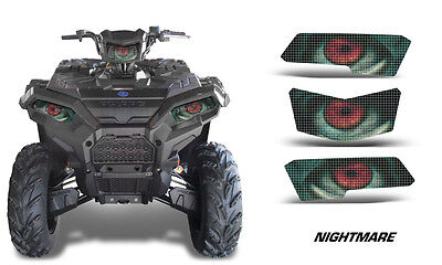 Headlight Eye Graphics Kit Decal Sticker Cover For Polaris RZR 800//900 FRIGHT