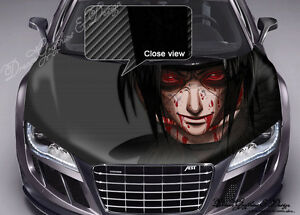 Manga Full Color Graphics Adhesive Vinyl Sticker Fit Any Car Hood - Car decals designabstract full color graphics adhesive vinyl sticker fit any car
