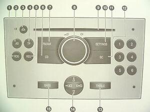 vauxhall corsa astra meriva zafira tigra audio cd 30 mp3 operating rh ebay com opel zafira user manual opel zafira user manual