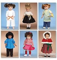 Nip Mccall's Clothes For A 18 Doll Sewing Pattern M6006 Dress Karate Apron