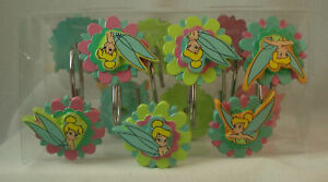 Image Is Loading Tinker Bell Shower Curtain Hook 12 Pc Set