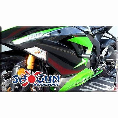 Kawasaki 2013-2017 ZX6R Shogun Frame Slider Kit Includes Spools+Bar Ends No Cut