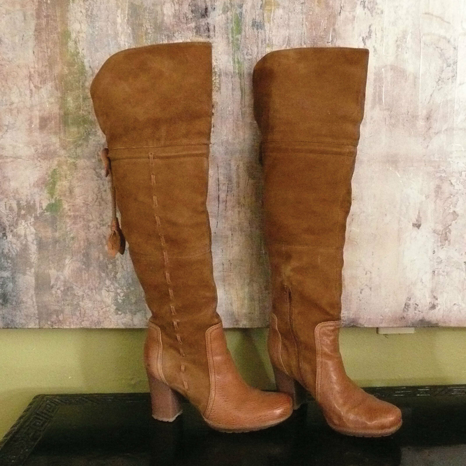 Naya Narubi Boots Suede and Leather Mix  284 Size 8