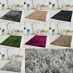 Polyester-Teppich-Fait-Main-Poils-Longs-Shaggy-Super-Souple-Couleur-Unie-Uni