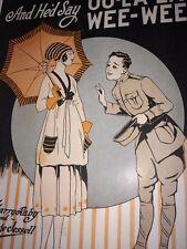 Oo-la-la Wee Wee Sheet Music WWI 1919 Copyright Military Flapper Girl Art