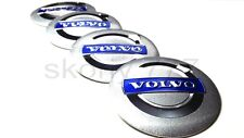 4x56mm Volvo Silver Alloy Wheel Center Cap Badge Sticker C70 S40 V50 S60 V60 V70