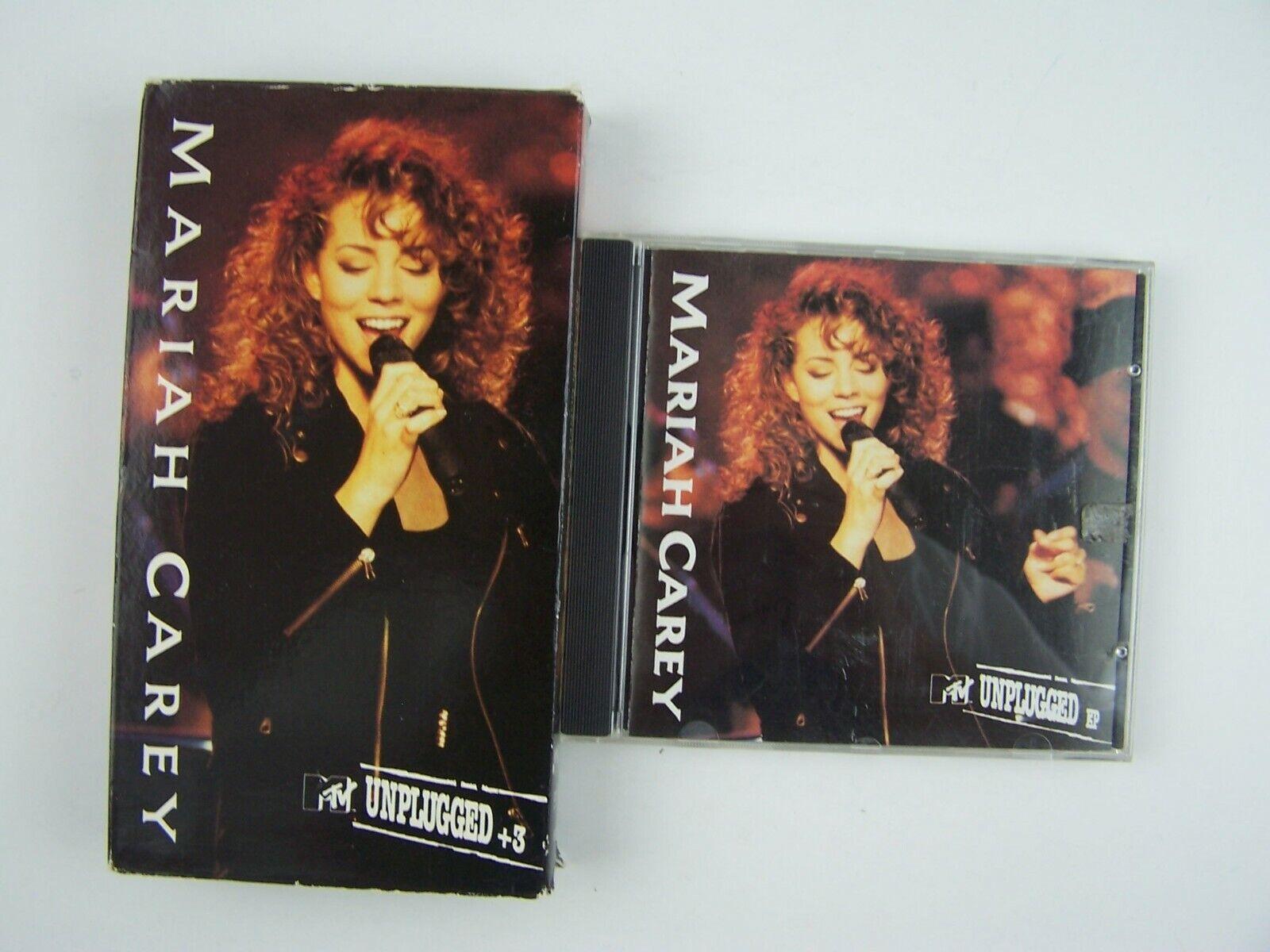 Mariah Carey MTV Unplugged VHS & CD Combo Lot