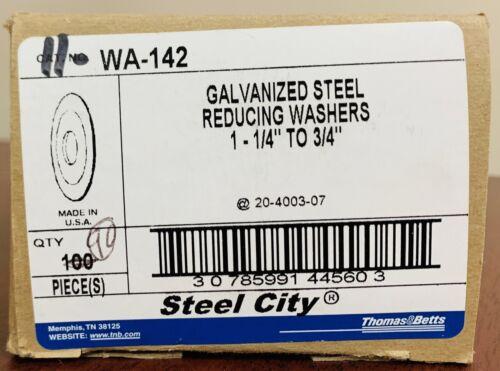 1-1//4 to 3//4 in. Rigid//IMC Conduit WA-142 Conduit Reducing Washer,Steel