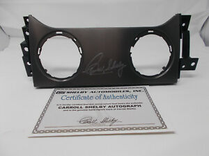 2005-2009-Shelby-GT500-or-Mustang-Carroll-Shelby-Signed-Center-Dash-Insert