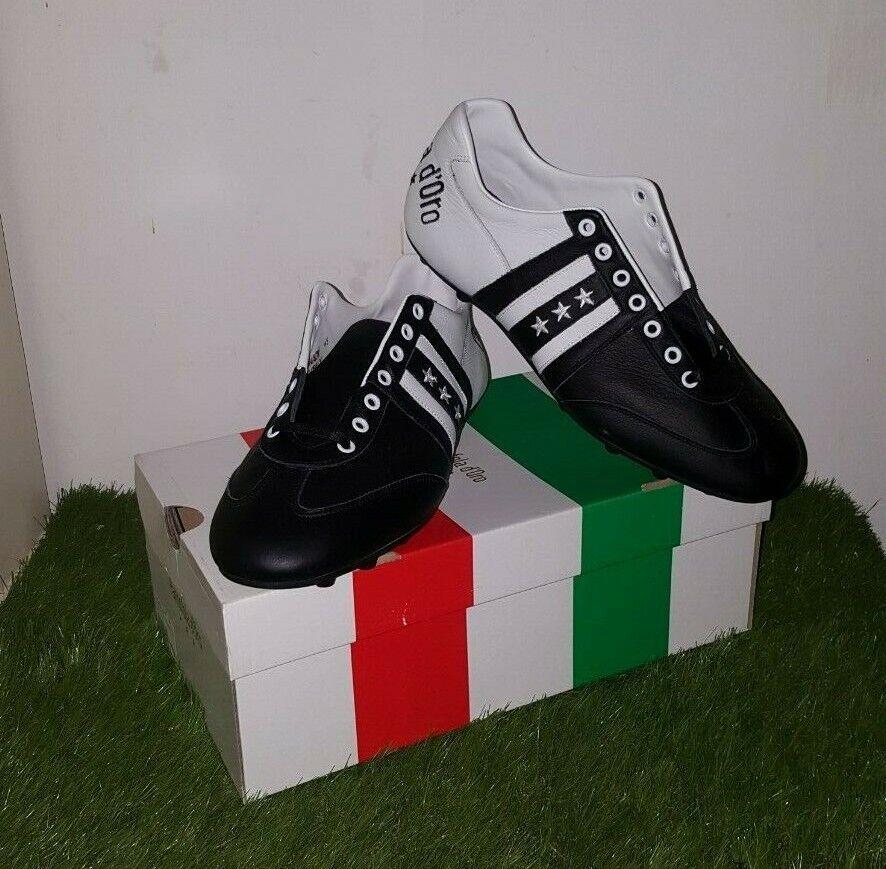 Pantofola D 'oro Piceno Hecho En Italia Cuero Zapatos de fútbol de salón botas 11.5