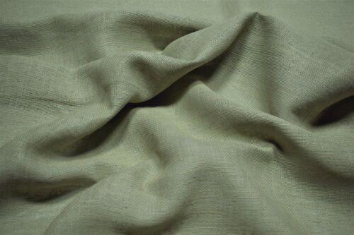 """Green Cortinas 100/% Lino fabricut Clifton tapicería textil cáñamo en bruto 54/""""W FC15"""