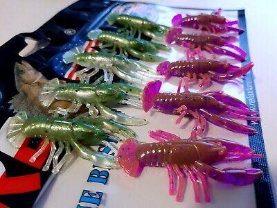 10x Gummifische RELAX Krebs 5,5 cm,Crawfish,Flusskrebs,Raubfischangeln,Dropshot