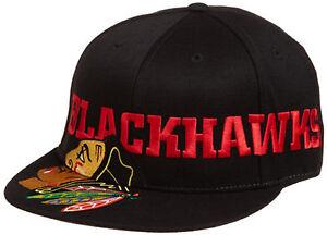 64db9623525 Chicago Blackhawks Game Day Pro Shape Flat Brim Hat Flex Fitted Hat ...