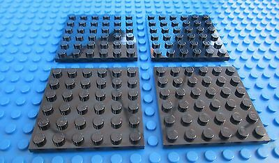 Lego BLUE 6x6 BASEPLATES QTY4 City Town Castle Pirates Water Base Plates NEW