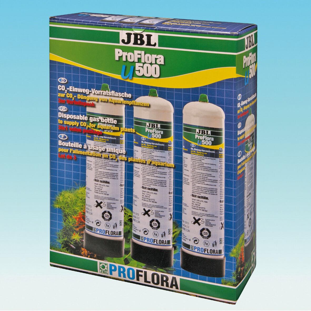 JBL ProFlora 3x u500 co2 Ricambio Flacone scorta bottiglia flacone monouso
