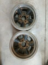 Vintage Two Piece Torque Thrust Style Wheels 14x6 Gm Chevy 5 On 4 34 Pattern
