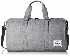 Herschel Supply Co. Novel Duffle Bag Raven Crosshatch One Size 2day Ship 6de394b537856