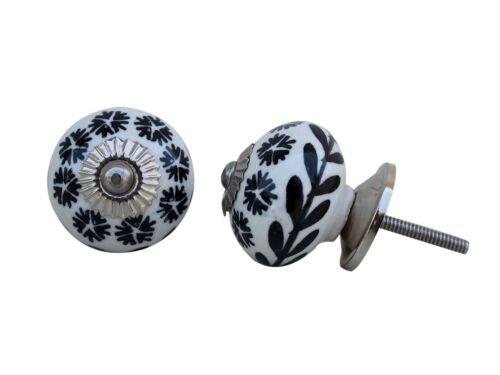 Black White Grey Ceramic Door KnobsChina Cabinet Knobs Porcelain Drawer Pulls